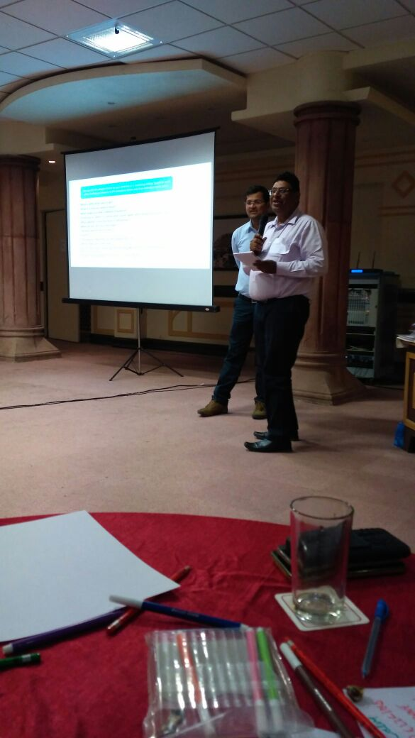 Training at Jodhpur with L & T - Corporate Trainer